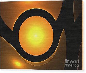 Orange Eye Wood Print by Steve K