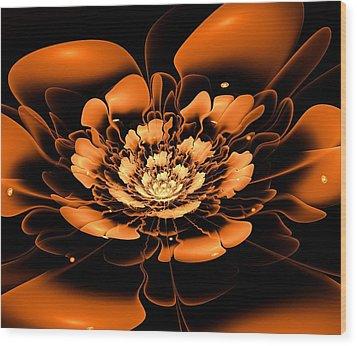 Orange Flower  Wood Print by Anastasiya Malakhova