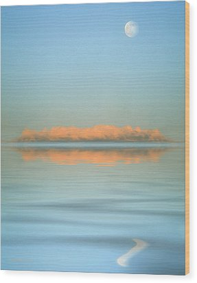 Orange Fog Wood Print by Jerry McElroy