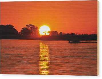 Orange Glow Wood Print by Joe  Burns