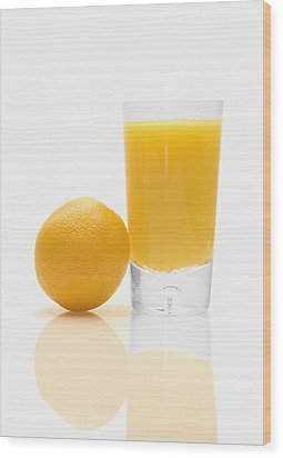 Orange Juice Wood Print by Darren Greenwood