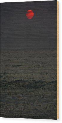 Orange Onyx Sunrise Wood Print