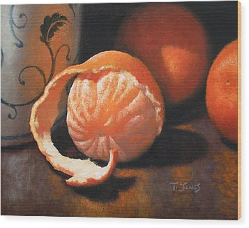 Orange Peeled Wood Print