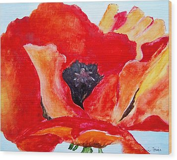 Orange Poppy Wood Print by Jamie Frier