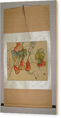 Wood Print featuring the painting Orange Prevails by Debbi Saccomanno Chan