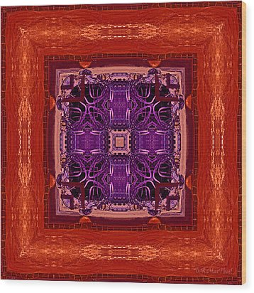 Wood Print featuring the photograph Orange Red And Purple Kaleidoscope by Barbara MacPhail