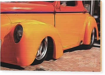 Orange Rush - 1941 Willy's Coupe Wood Print