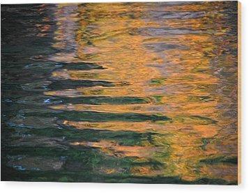 Orange Sherbert Wood Print by Donna Blackhall