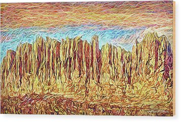 Orange Sky Cliffs - Colorado Wood Print