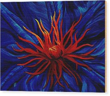 Orange Tango Wood Print by Julie Pflanzer