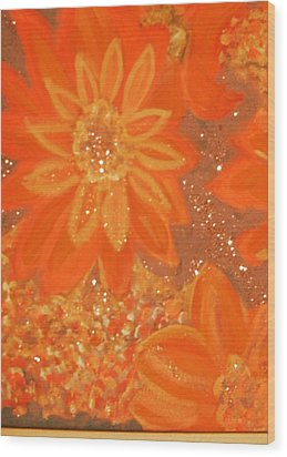 Orange You Glad You Like Orange Wood Print by Anne-Elizabeth Whiteway