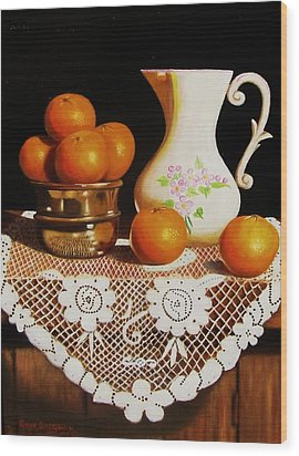 Orange You Sweet  Wood Print
