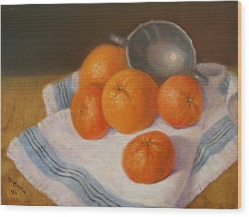 Oranges And Tangerines Wood Print by Donelli  DiMaria