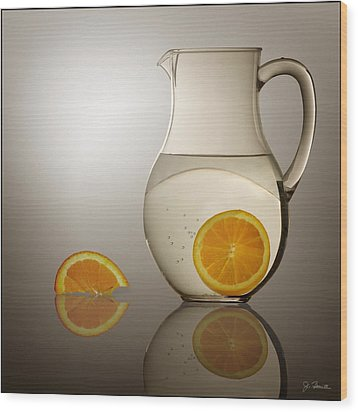 Wood Print featuring the photograph Oranges And Water Pitcher by Joe Bonita