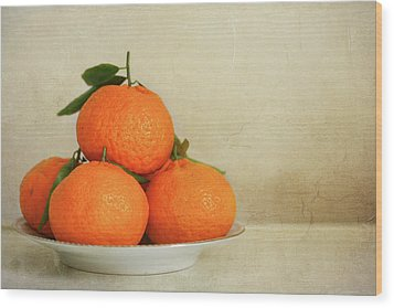 Oranges Wood Print by Annfrau
