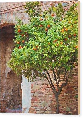 Orangetree Wood Print by Lutz Baar