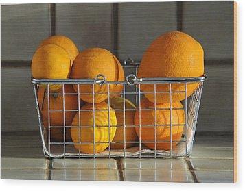 Orangey Wood Print by Dan Holm