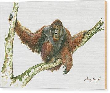 Orangutang Wood Print