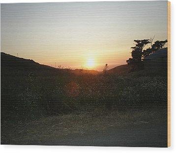 Orbs At Sunset Wood Print