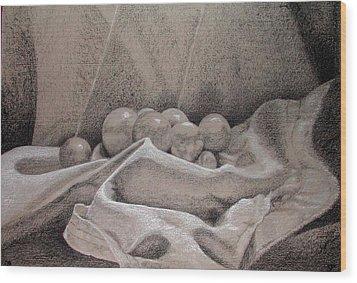 Orbs Wood Print by Rebecca Tacosa Gray