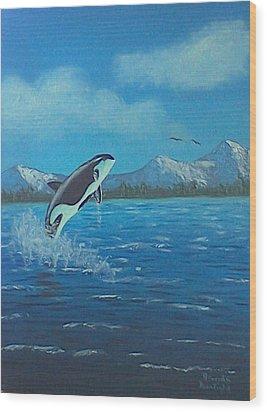 Orca Wood Print by Brenda Bonfield