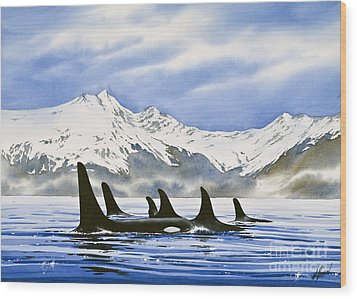 Orca Wood Print by James Williamson
