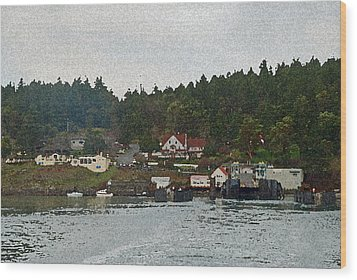 Orcas Island Dock Digital Wood Print