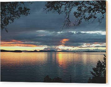 Orcas Island Sunset Wood Print