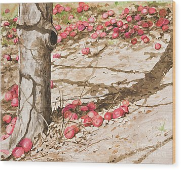 Orchard Afternoon Wood Print by Carla Dabney