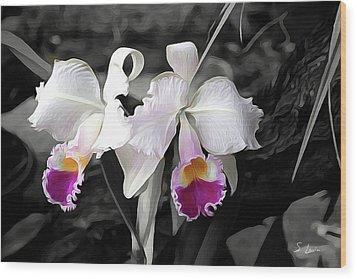 Orchid #5501 Inimitable Flower Wood Print