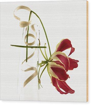 Orchid Wood Print by Bernard Jaubert