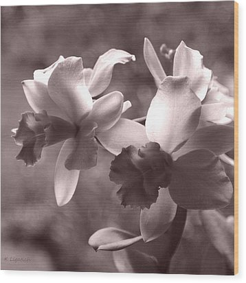 Wood Print featuring the photograph Orchid Dream - Square by Kerri Ligatich
