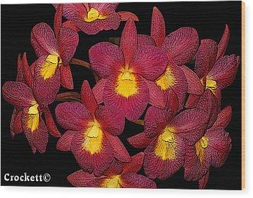 Orchid Floral Arrangement Wood Print