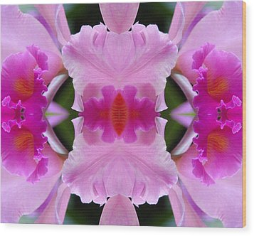 Orchid Fusion Wood Print
