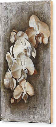 Orchid Ladder Wood Print by Daniela Easter