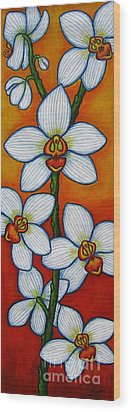 Orchid Oasis Wood Print by Lisa  Lorenz