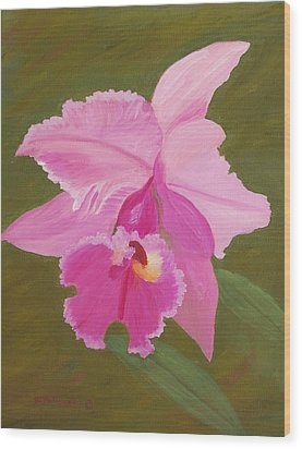 Orchid Wood Print by Ruth  Housley