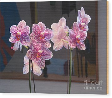 Wood Print featuring the photograph Orchids by Erik Falkensteen