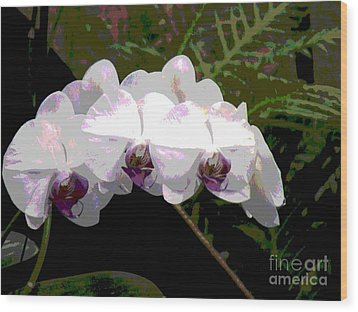 Wood Print featuring the photograph Orchids Impressionistic by The Art of Alice Terrill