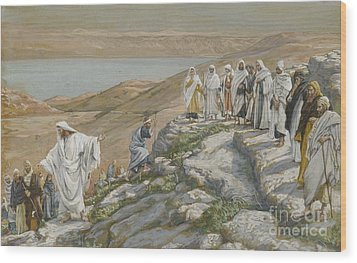 Ordaining Of The Twelve Apostles Wood Print by Tissot