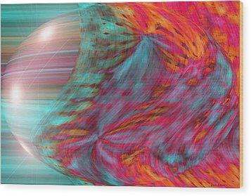 Order Of The Universe Wood Print by Linda Sannuti