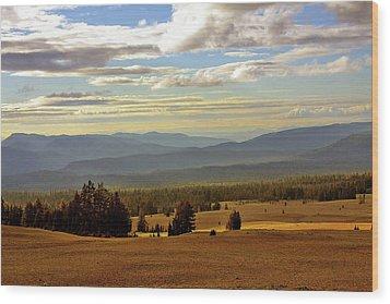Oregon - Land Of The Setting Sun Wood Print by Christine Till