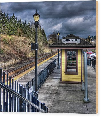 Oregon City Train Depot Wood Print by Thom Zehrfeld