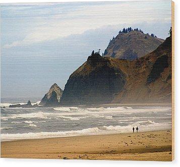 Oregon Coast 12 Wood Print by Marty Koch