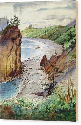 Oregon Coast #3 Wood Print by John Norman Stewart