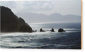 Oregon Coast 5 Wood Print by Marty Koch