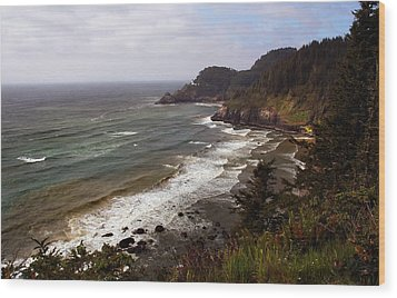 Oregon Coast Wood Print by Joanne Coyle