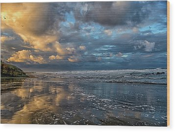 Oregon Coast Reflections Wood Print