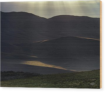 Wood Print featuring the photograph Oregon Mountains 1 by Leland D Howard
