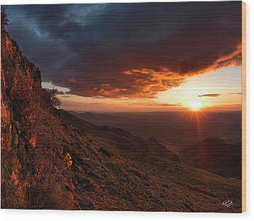 Wood Print featuring the photograph Oregon Mountains Sunrise by Leland D Howard